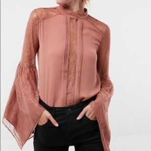 Express Lace  Bell Sleeve Blouse